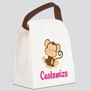 Personalize this adorable baby mo Canvas Lunch Bag
