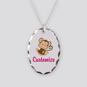 Personalize this adorable baby Necklace Oval Charm