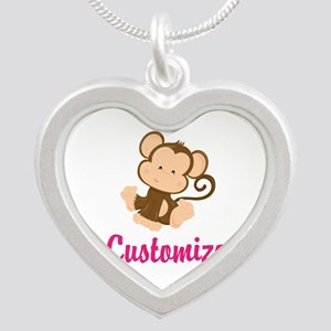 Personalize this adorable ba Silver Heart Necklace