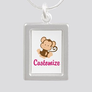 Personalize this adorabl Silver Portrait Necklace