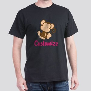 Personalize this adorable baby monkey Dark T-Shirt