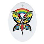 Rainbow Girls Oval Ornament