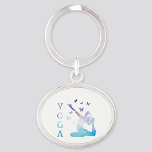 Yoga Oval Keychain