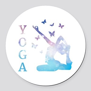 Yoga Round Car Magnet