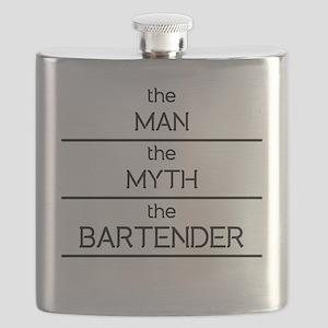 The Man The Myth The Bartender Flask