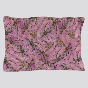 Dragonflies Pink Fizz Pillow Case