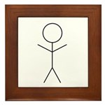 Stick Figure Framed Tile
