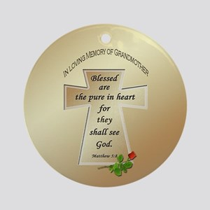 In Loving Memory of Grandmother Ornament (Round)