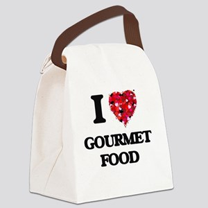 I love Gourmet Food Canvas Lunch Bag