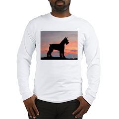 Schnauzer Sunset Long Sleeve T-Shirt