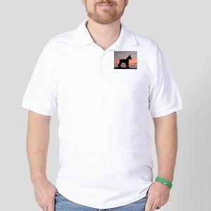 Schnauzer Sunset Golf Shirt