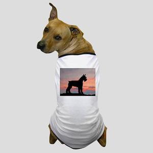 Schnauzer Sunset Dog T-Shirt