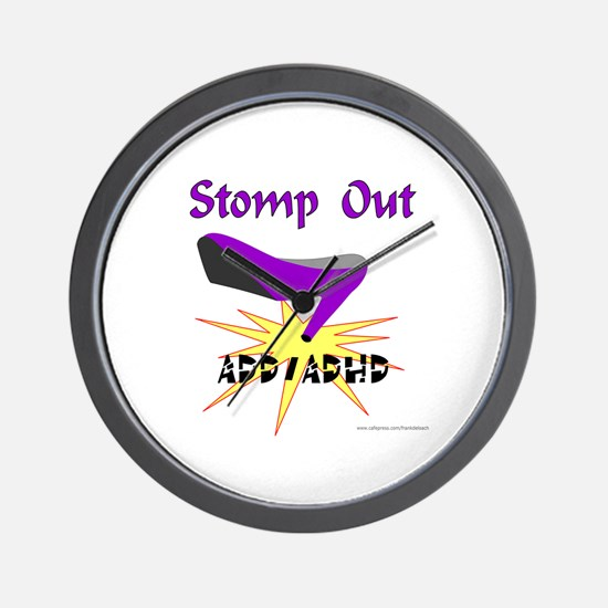 ADD/ADHD AWARENESS Wall Clock
