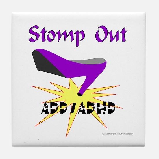 ADD/ADHD AWARENESS Tile Coaster