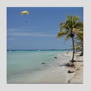 Negril Beach Jamaica Tile Coaster