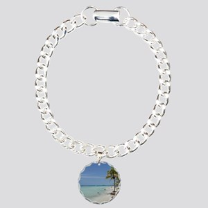 Negril Beach Jamaica Charm Bracelet, One Charm