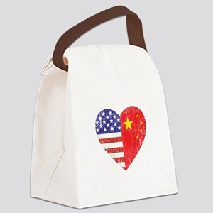 Family Heart_C Canvas Lunch Bag