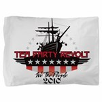 Tea Party Revolt Oval (black) Pillow Sham