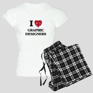 I love Graphic Designers Women's Light Pajamas