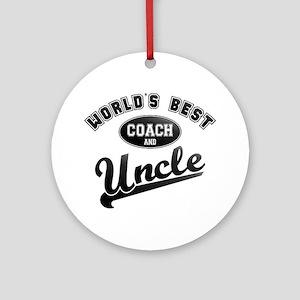 Best Coach Uncle Ornament (Round)
