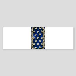 Diamond and Blue Sapphire Bumper Sticker