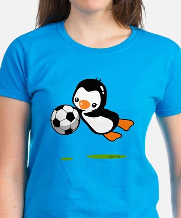 Soccer Penguin Women's Dark T-Shirt