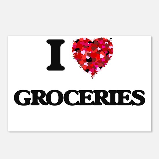 I love Groceries Postcards (Package of 8)