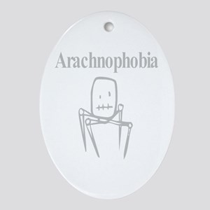 Arachnophobia Fear Of Spiders Oval Ornament