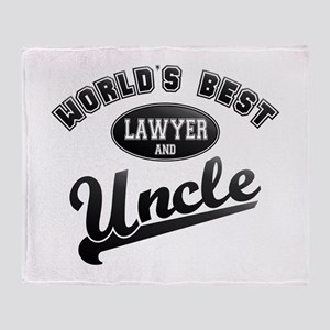Best Lawyer Uncle Throw Blanket