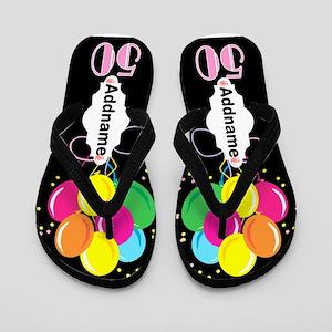 50th Party Flip Flops