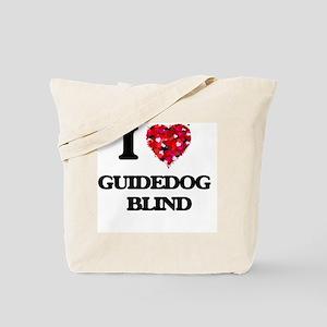 I love Guidedog Blind Tote Bag