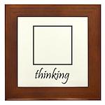 Thinking Box Framed Tile