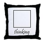 Thinking Box Throw Pillow