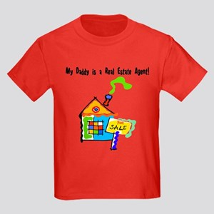 My Daddy is a Real Estate Agent Kids Dark T-Shirt