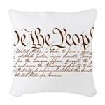 We the People Woven Throw Pillow