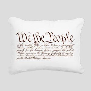 We the People Rectangular Canvas Pillow