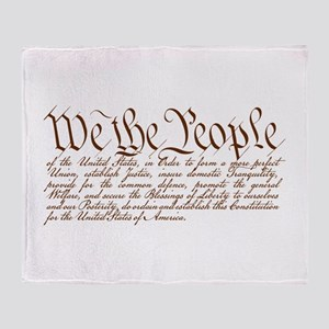 We the People Throw Blanket
