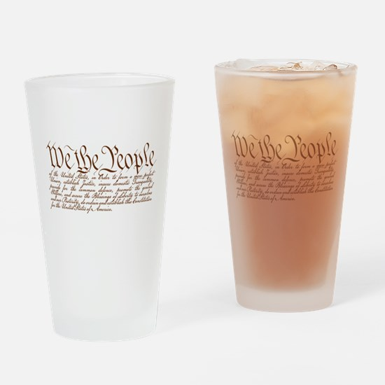 We the People Drinking Glass
