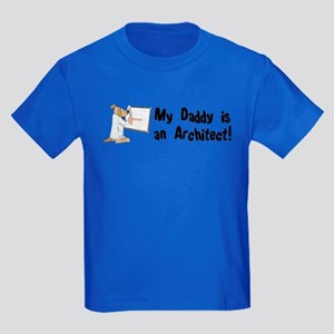 My Daddy is an Architect Kids Dark T-Shirt