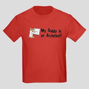 My Daddy is an Architect Kids Dark T-Shirt
