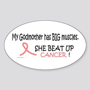 My Godmother Has Big Muscles 1 Oval Sticker