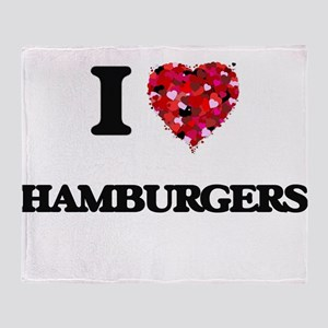 I love Hamburgers Throw Blanket