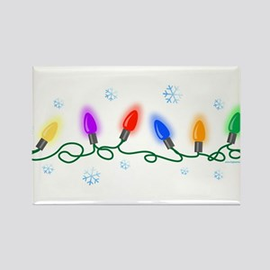 Holiday Lights Rectangle Magnet
