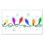 Holiday Lights Sticker (Rectangle)
