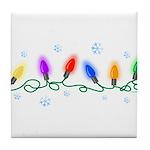 Holiday Lights Tile Coaster