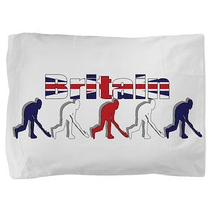 Britain Field Hockey Pillow Sham