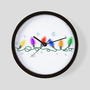 Holiday Lights Wall Clock