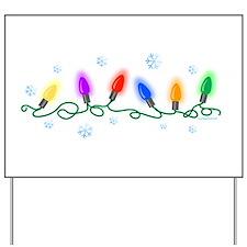 Holiday Lights Yard Sign