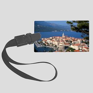 Croatia Harbor  Large Luggage Tag