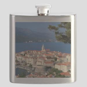 Croatia Harbor Flask